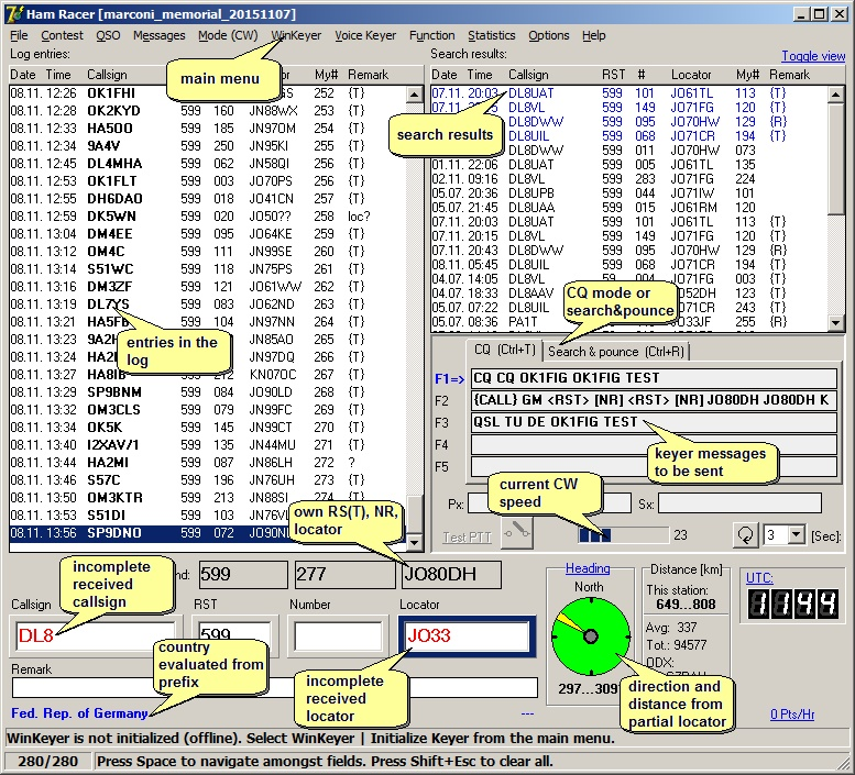 HamRacer - software for passionate contesters